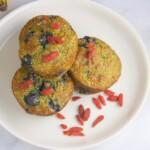 blueberry goji banana muffins