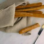 spelt flaxseed breadsticks