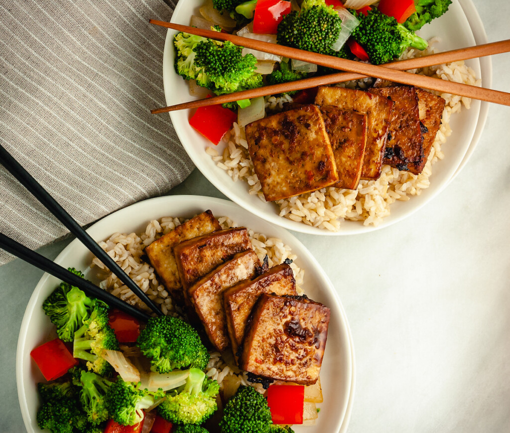 baked teriyaki tofu
