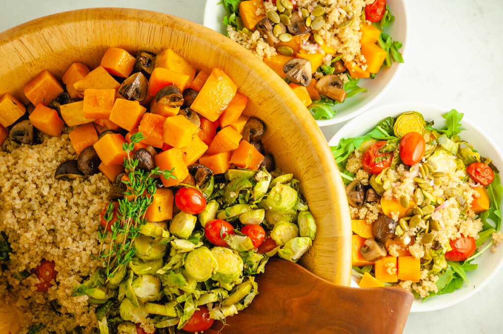 Winter Roasted Vegetable Salad with Quinoa