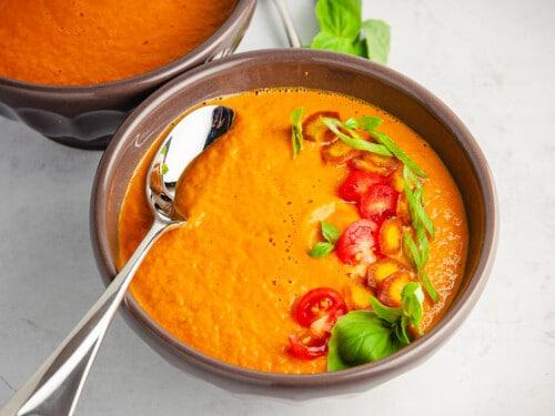 creamy summer tomato soup
