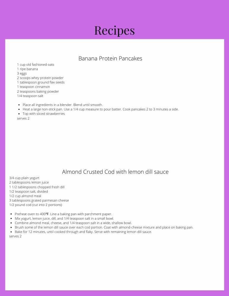 perimenopause diet recipes