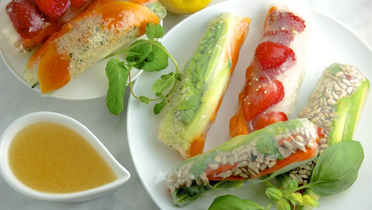 Fruit and Vegetable Rice Wraps