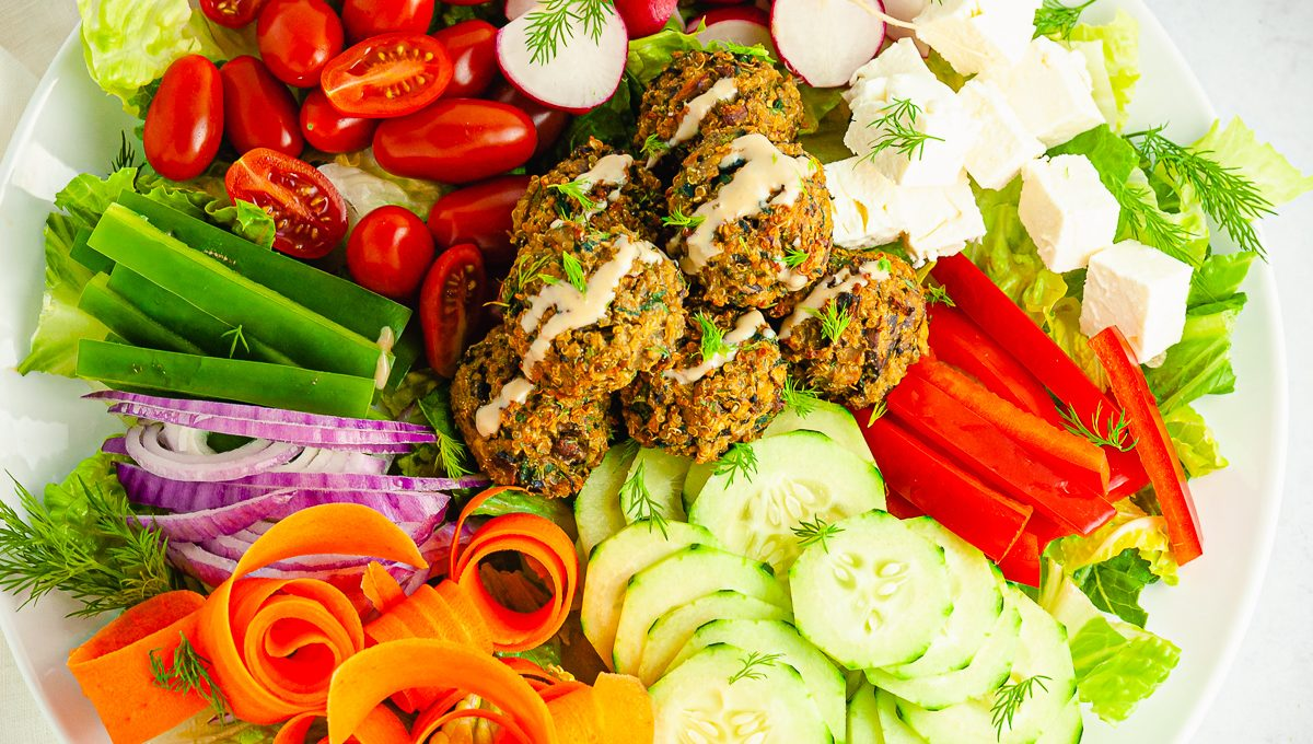 quinoa and vegetable meatballs