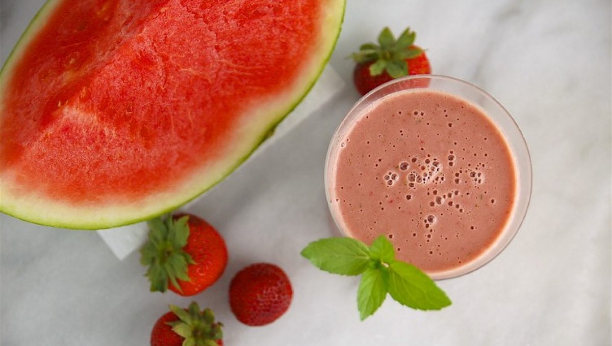 watermelon hydrating protein smoothie 1